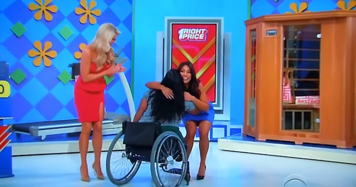 'Price is Right' contestant in wheelchair reacts to treadmill prize like a champ.