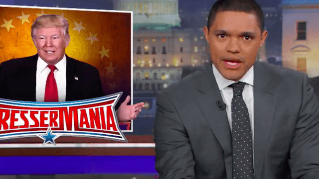Trevor Noah tries to turn Trump's 'authoritarian' press conference into comedy.