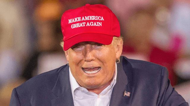 Trump interrupts interview to trademark his incredibly lame 2020 campaign slogan.