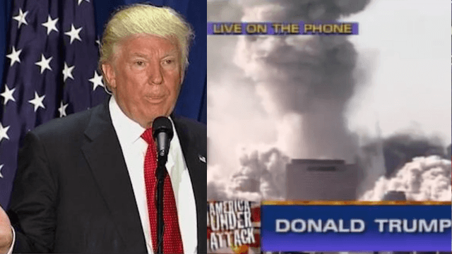 Yes, Donald Trump did say he now had the tallest building in lower Manhattan on 9/11/2001.