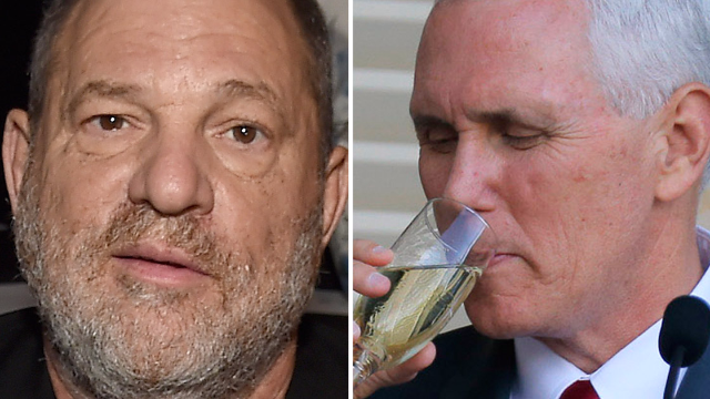 Former Trump advisor compares Harvey Weinstein to Mike Pence in worst tweet you'll see today.