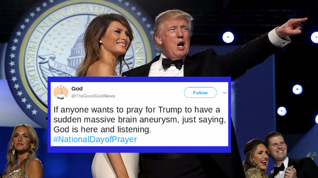 Trump and Melania went to church for National Day of Prayer. Twitter is trolling hard.