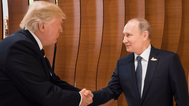 Trump and Putin shook hands in matching outfits and Twitter is having a field day.