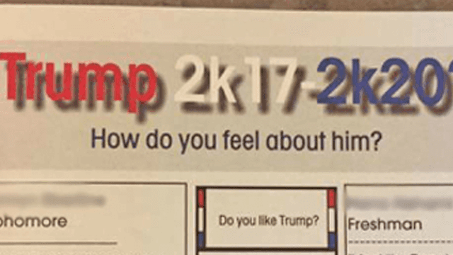 Student causes hailstorm of controversy after her anti-Trump quote makes the yearbook.