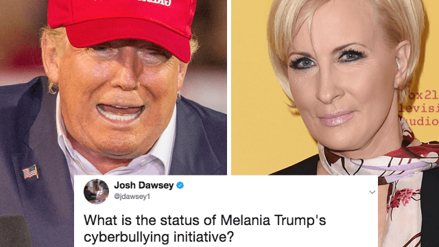 Trump just tweeted about a TV host's 'bleeding face-lift' and no one believes this is normal.