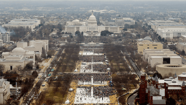 Trump commemorated his poorly attended inauguration with a framed photo that says the wrong date.