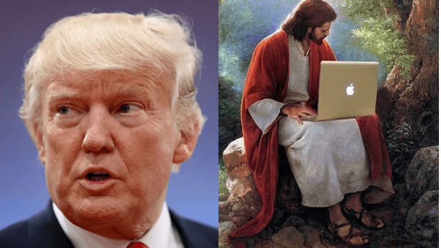 Trump is getting 'downloads' straight from God, according to his 'Christian policy' advisor.