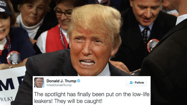 Trump threatens to punish 'low-life leakers.' Of course Twitter had jokes about that.