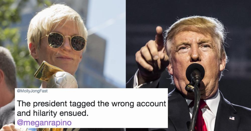 Trump attacks wrong woman in 'feud' with soccer star  Her
