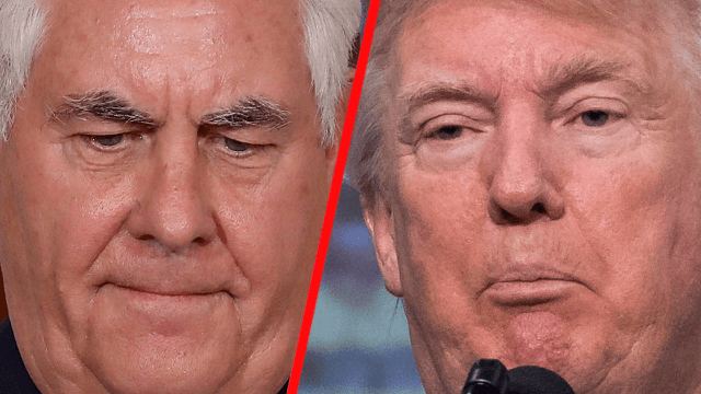 Trump challenged his own secretary of state to a test to prove who's the real moron.