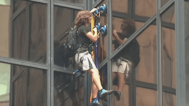 The 19 funniest Twitter responses to the Trump Tower climber.