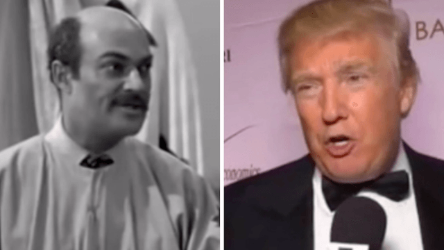 Eerily prophetic 1950s TV show featured a wall-building con man villain named Trump.
