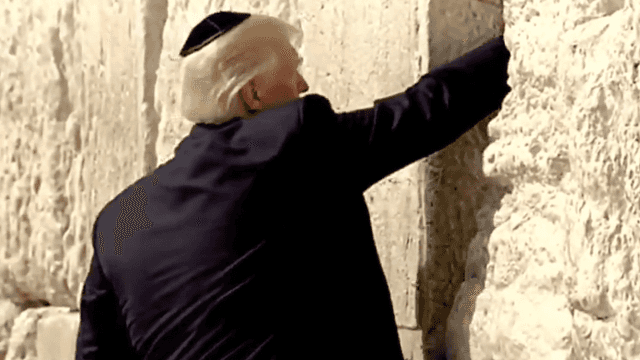 Donald Trump put a note in the Western Wall and blasphemous jokesters are guessing what it says.