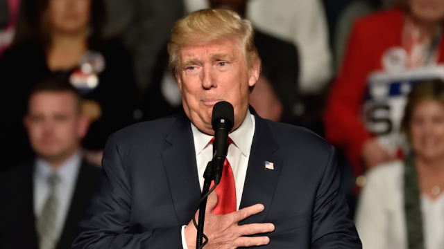 President Trump botches national anthem with cringeworthy lip sync.