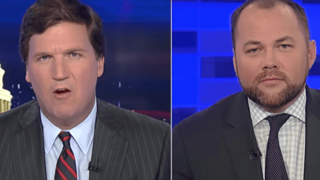 Tucker Carlson loses it over why clean bathrooms are more important than Trump's tax returns.
