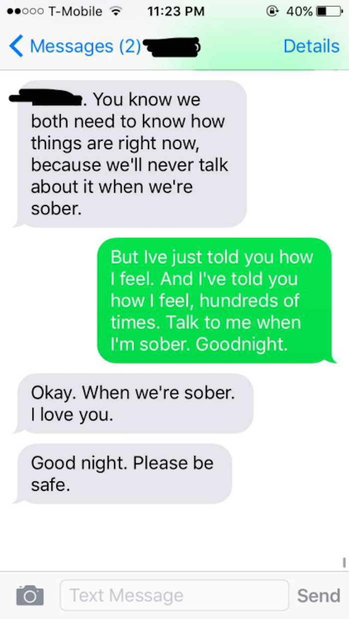 A tumblr collects the last text messages people got from loved ones and man, they are harsh.