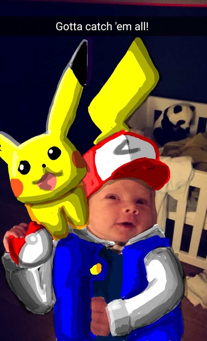 Artist/dad uses Snapchat to transform his baby into beloved pop culture characters.