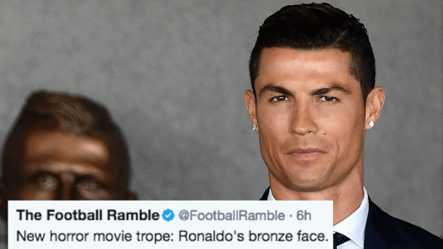 Twitter is roasting this horrifying statue of Cristiano Ronaldo that looks nothing like him.