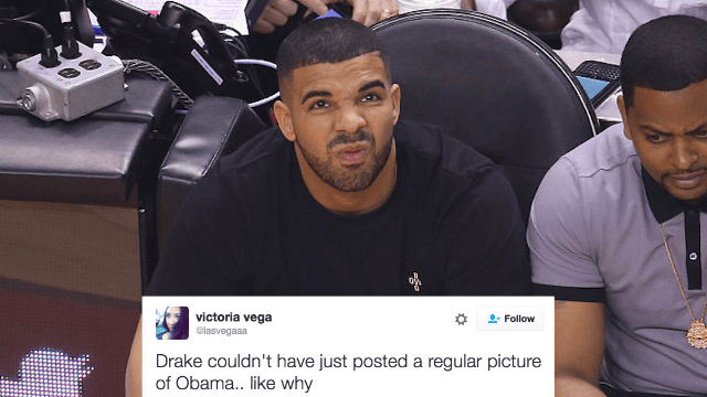 Drake's bizarre 'tribute' to Obama has the internet shaking their damn heads.