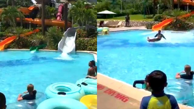 Twitter is baffled by teen's physics-defying waterslide stunt. Is he Jesus?