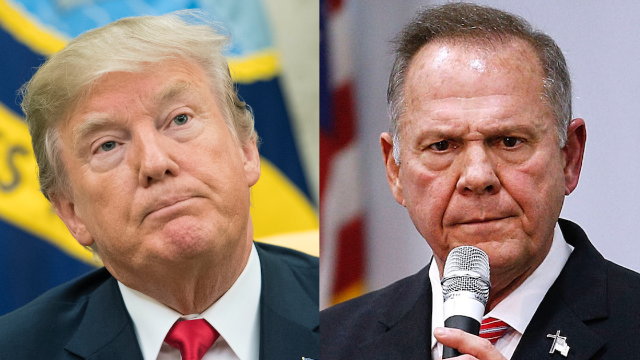Why has Trump been silent on Roy Moore? Twitter has some theories.