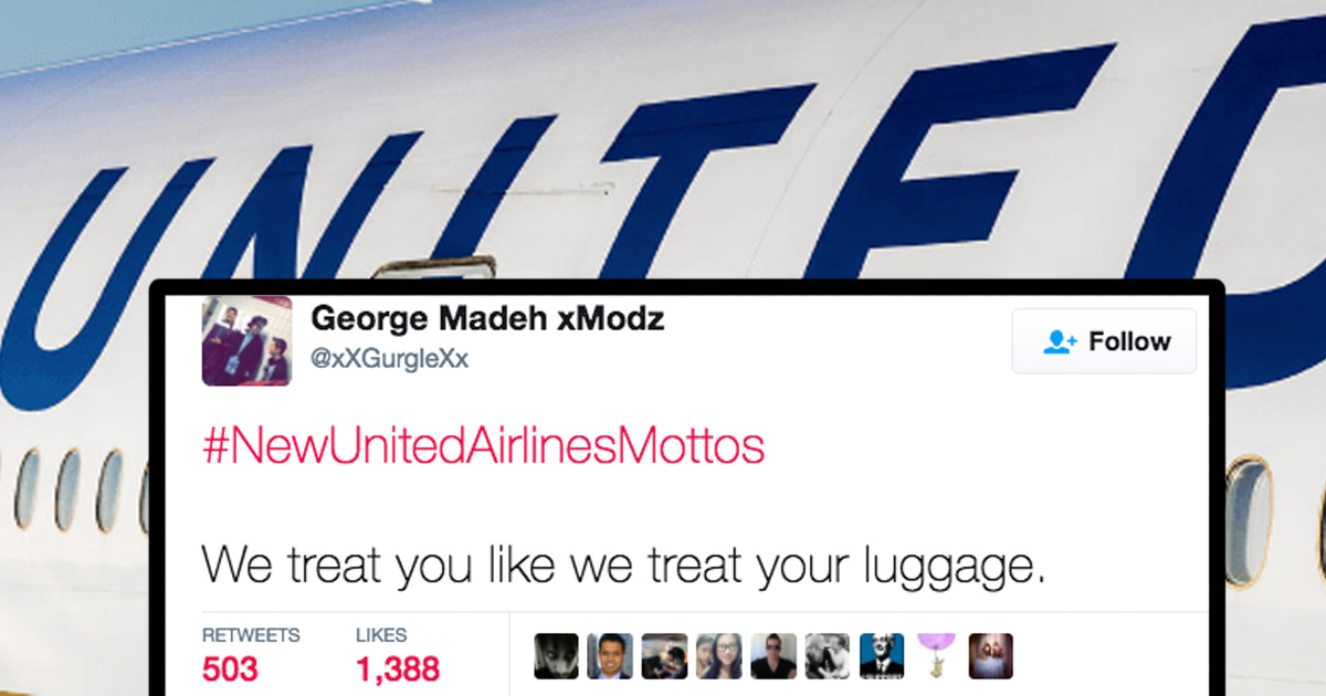 twitter s relentlessly trolling united airlines with