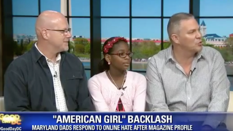 A girl with two dads was criticized by 'One Million Moms.' She responded perfectly.