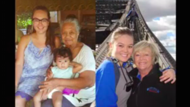 Biracial student makes video showing the very different lives of her grandmothers.