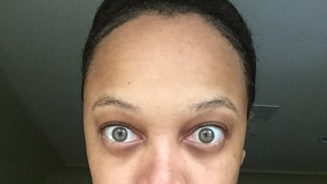 Tyra Banks posted a no-makeup selfie and called out people who lie about #nofilter.