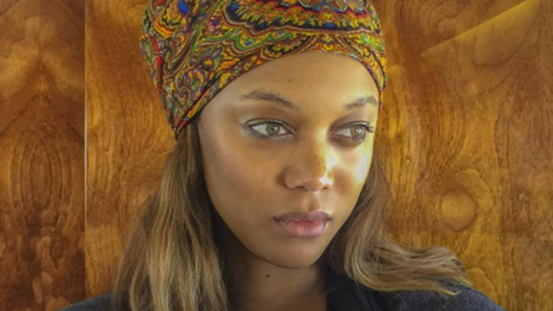 Tyra Banks shared her first photo of her new son on Valentine's Day, because love.