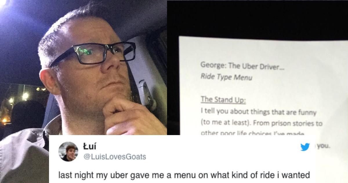 uber driver menu | Someecards Lifestyle