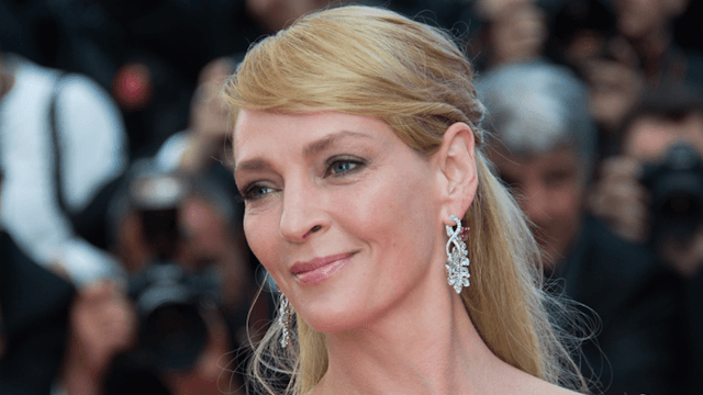 Uma Thurman's raw response to a question about Weinstein has Twitter applauding. And waiting.