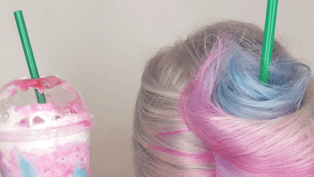 'Unicorn frappuccino hair' is now a thing and this has officially gotten out of hand.
