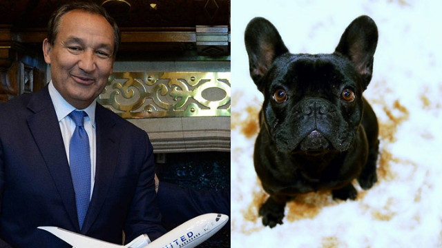 United Airlines CEO Oscar Munoz is silent after a puppy died in an overhead bin.