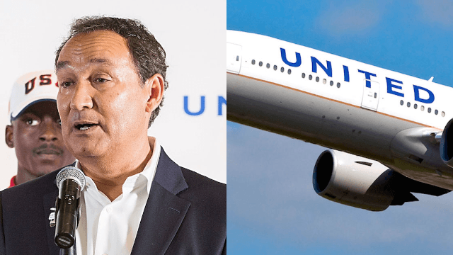 United CEO defends employees who dragged 'belligerent' man off plane in company-wide letter.