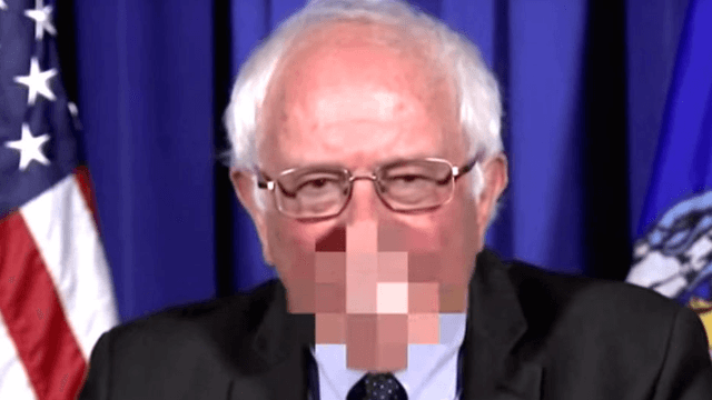 Jimmy Kimmel put the f-word in Bernie Sanders' mouth and it's probably what he's really thinking.