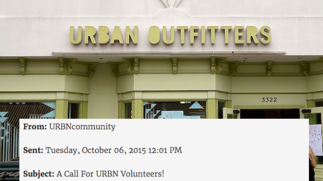 Urban Outfitters sends employees condescending email asking them to work weekends for free.