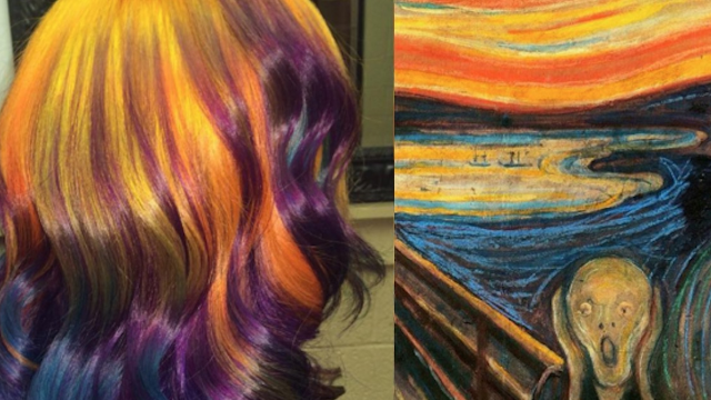 Hair colorist uses famous paintings as her inspiration.
