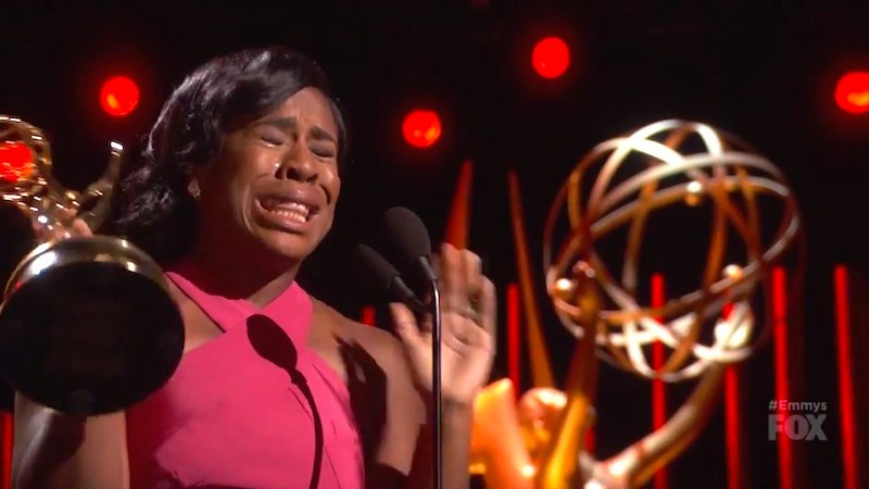 Uzo Aduba didn't play it cool in her Emmys acceptance speech, and we all benefited.
