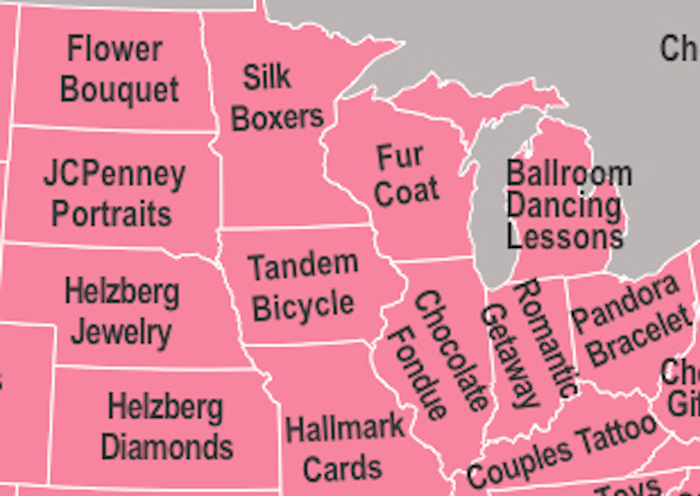 Here are the Valentine's Day gifts each state googles the most. South Dakota needs help.