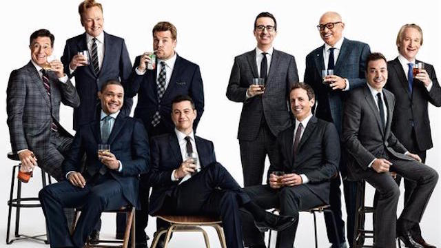 People are freaking out about this all-male 'Vanity Fair' photo, and Samantha Bee had the best response.