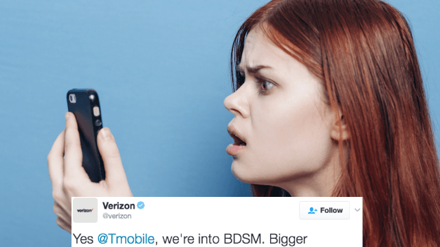 Two major cell phone companies got in a fight over Twitter and things got kinky.