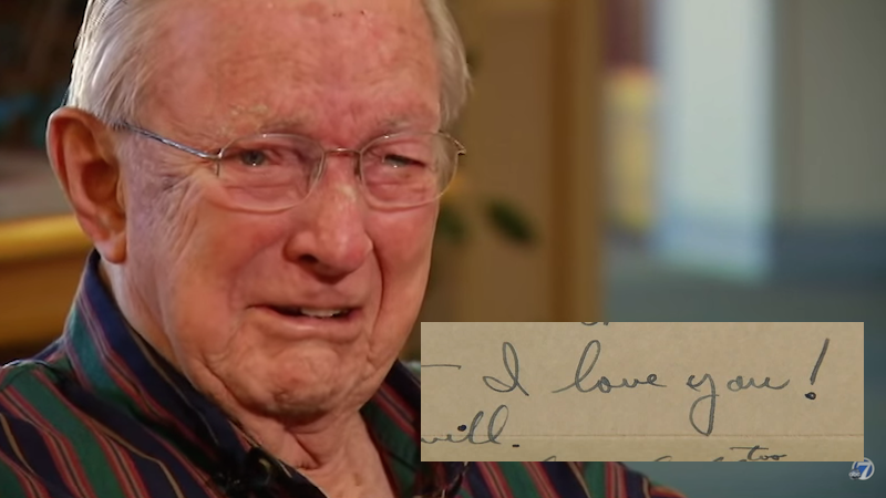 After 70 years, someone found this veteran's lost WWII love letter to his late wife.