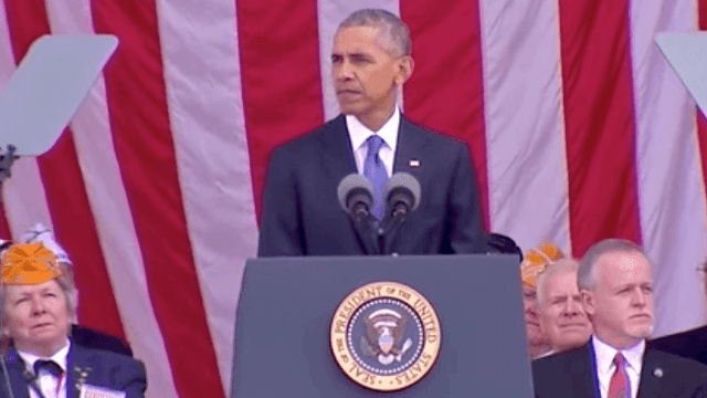 President Obama gives his final Veterans Day speech at Arlington National Cemetery.