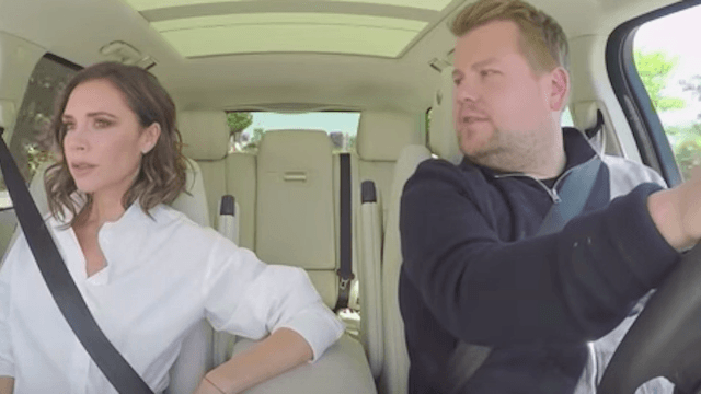 Victoria Beckham joined James Corden for Carpool Karaoke with a major twist.