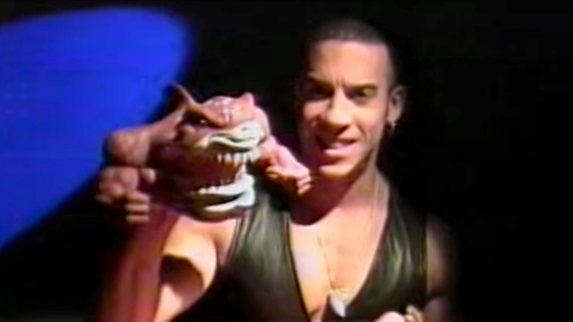 Someone found an amazing old video of Vin Diesel as a leather-vested toy salesman in 1994.