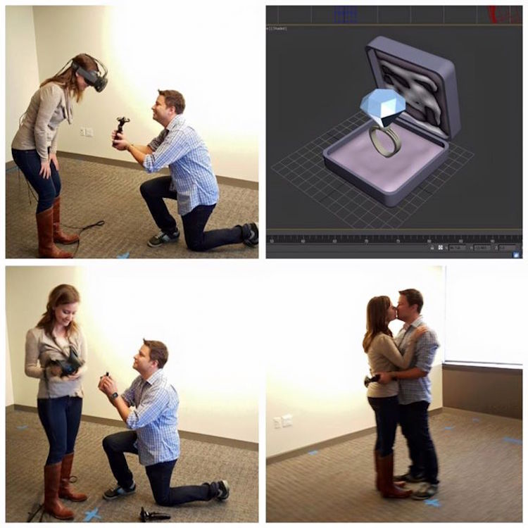 This guy proposing to his girlfriend in virtual reality is the most romantic thing in nerddom.