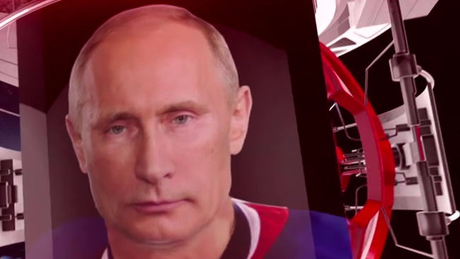 Vladimir Putin performs actual* non-animal-related feat of manliness with former NHL players.