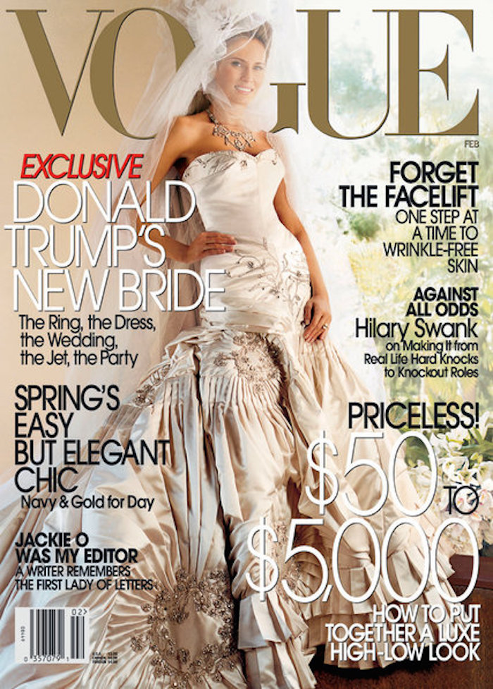 Melania Trump scored the cover of Vogue after marrying Donald Trump.