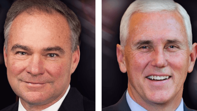 Live: The VP debate between Mike Pence and Tim Kaine, plus background stories.